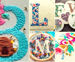 😍🌺🎀Aprende hacer hermosos bordados de letras😍🌺🎀 tutorial paso a paso