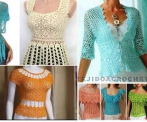 😍🌺🎀Hermosos patrones de blusas a crochet😍🌺🎀 tutorial paso a paso
