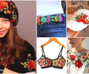 Aprende hacer lindos bordados en tu ropa/Tutorial paso a paso