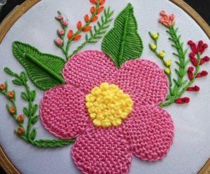 Aprende a bordar bellisimas flores
