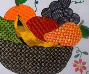 Aprende a bordar lindas canastas frutales