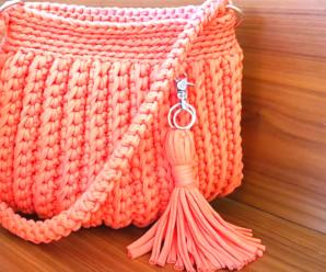 Bellisimo bolso de trapillo tejido a crochet/Curso tutorial paso a paso