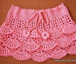 Aprende hacer preciosas faldas a crochet