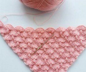 Aprende a tejer puntos para chales a crochet