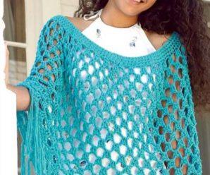 Aprende a tejer bellisimas capas a crochet