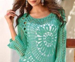 Aprende a tejer hermosas blusas asimétricas a crochet