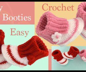 Hermosas botitas de bebe a crochet/Curso tutorial paso a paso