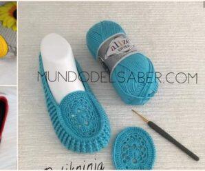Hermosos zapatos de dama a crochet/Curso tutorial paso a paso